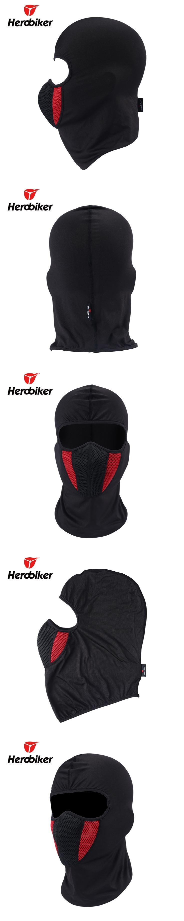 2017 HEROBIKER Men's Motorcycle Face Mask Outdoor Pro Street Windproof Dustproof Motorcycle Riding Neck Face Mask Moto Balaclava
