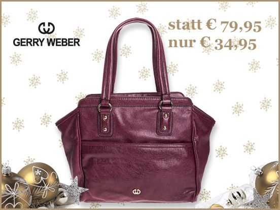 Lässiger Shopper von Gerry Weber zum absoluten Schnäppchenpreis! http://www.trendor.de/de/gerry-weber/handtaschen-taschen/gerry-weber-mystic-tasche-dunkelrot-083333524 #GerryWeber #Shopper #Geschenk #Tasche #Weihnachten #trendor