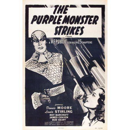 The Purple Monster Strikes Canvas Art - (24 x 36)
