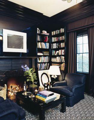 Study in Aerin Lauder's Hamptons House via House & Garden