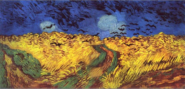 Van Gogh, Crows over a wheat field