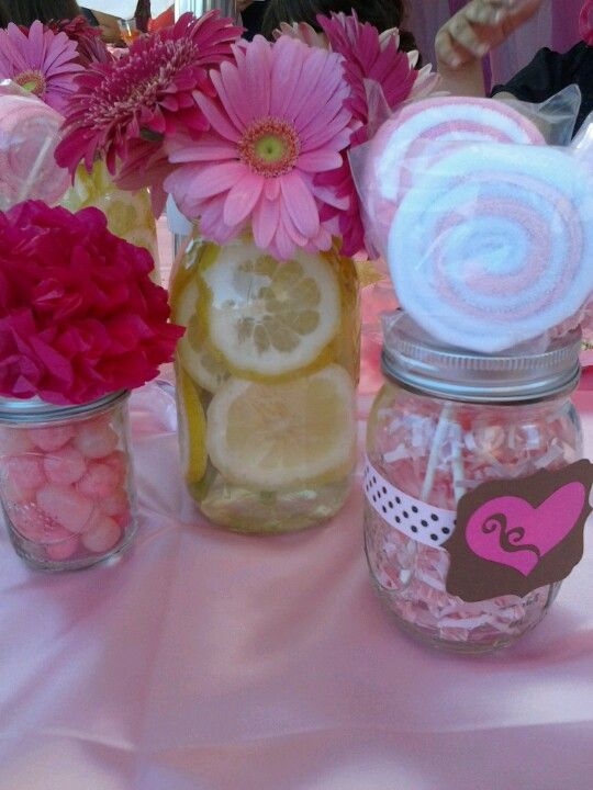 could do these for gender nutural shower too using different color flowers baby shower centerpieces