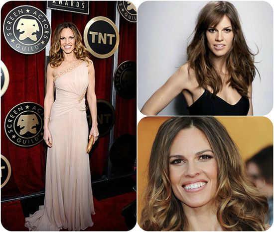 20 inches Two-Tone Human Hair Extensions uwo720 for Hot Ombre Hairstyles 2014 Hillary Swank Long Curls