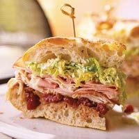 Muffuletta Sandwich from Better Homes & Gardens magazineMilehigh Muffulettastyl, Cherries Relish, Style Sandwiches, Miles High Muffuletta Styl, Muffuletta Sandwiches, Muffuletta Styl Sandwiches, Mardi Gras, Sandwich Recipes, Sandwiches Recipe