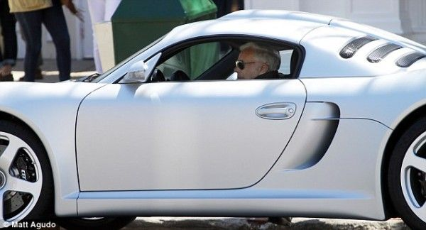 Ralph Lauren in his new RUF CTR 3 taking a drive in the Hamptons
