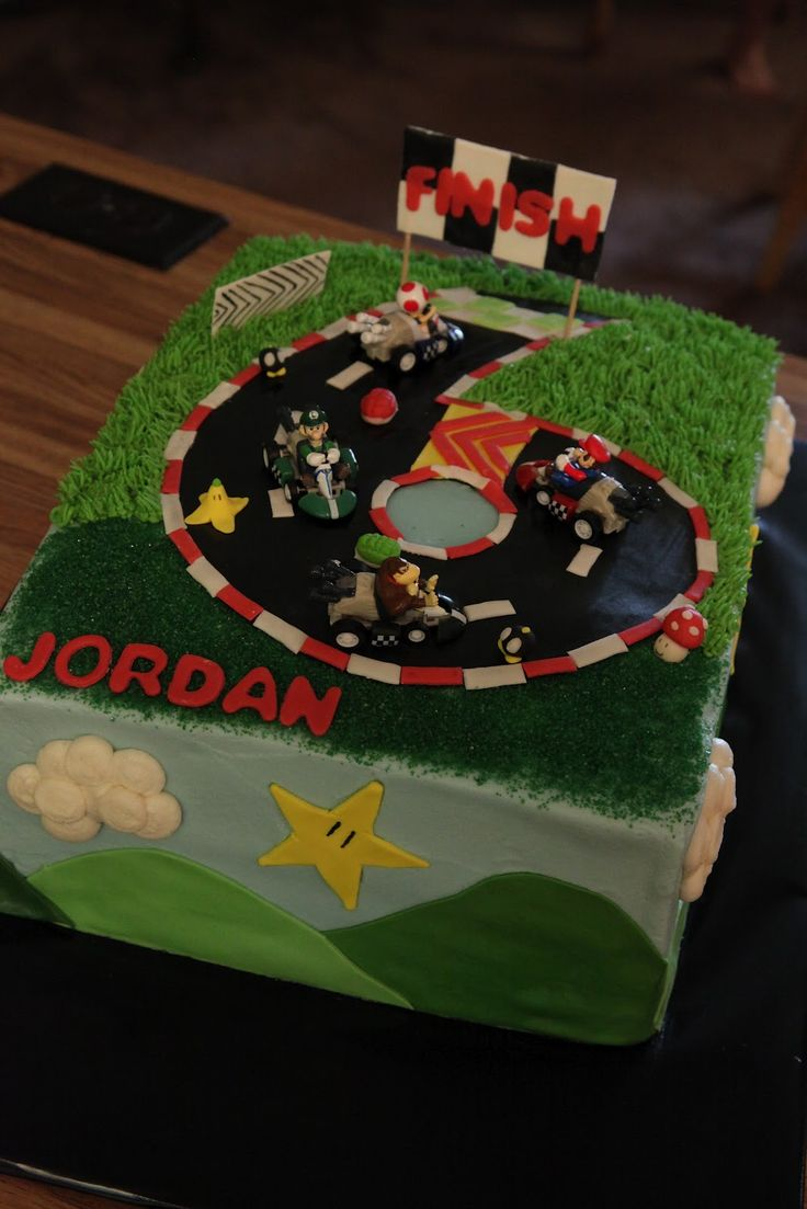 mario cart birthday cakes | the cake box: Mario Kart birthday cake