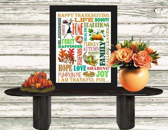 Thanksgiving Decoration Art Thanksgiving Subway Art