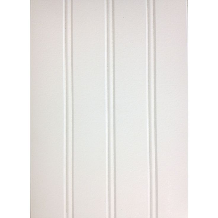 Mdf Beadboard In Bathroom: 7.24-in X 2.66-ft Double Bead White Pine MDF Wainscoting