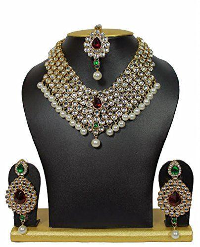 Indian Bollywood Bridal Red & Green Stone Pearls Kundan W... https://www.amazon.com/dp/B01NCZ670R/ref=cm_sw_r_pi_dp_x_LmYJyb0EV2P9H