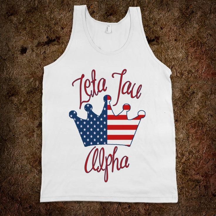 ZTA USA TankAlpha Phi, Bid Day, Sigma Kappa, Kappadelta, Totes Bags, Frat Tanks, Delta Delta Delta, Kappa Delta, Part Gamma