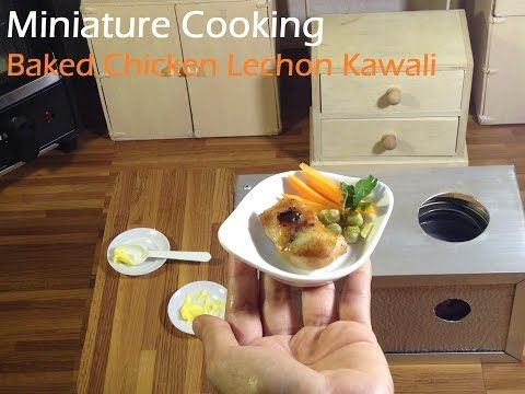 Mini Food: Baked Chicken Lechon Kawali (asian food) 焼きチキン 구운 치킨 (kids toys cooking) - YouTube