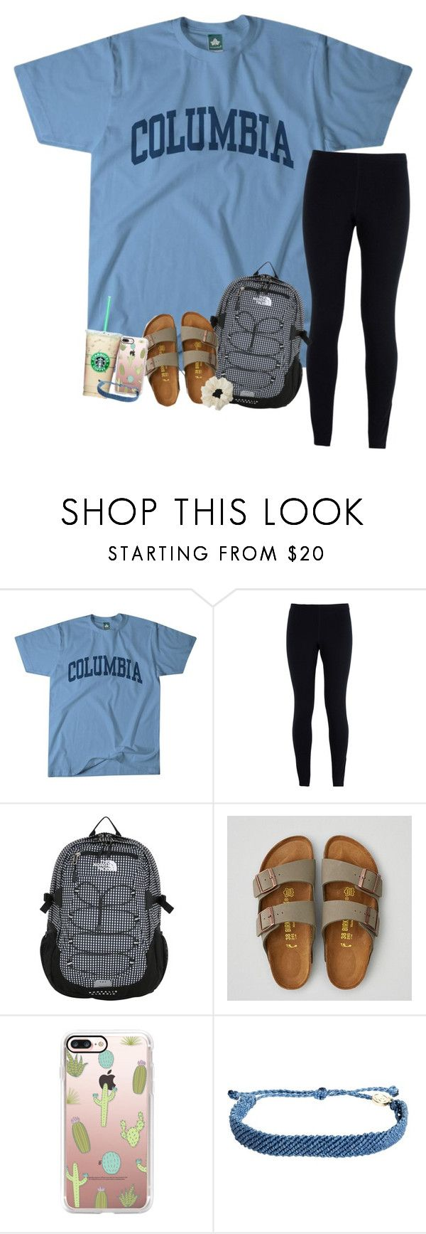 """campus days"" by haleyliiz ❤ liked on Polyvore featuring Columbia, NIKE, The North Face, American Eagle Outfitters, Casetify, Pura Vida and Miss Selfridge"