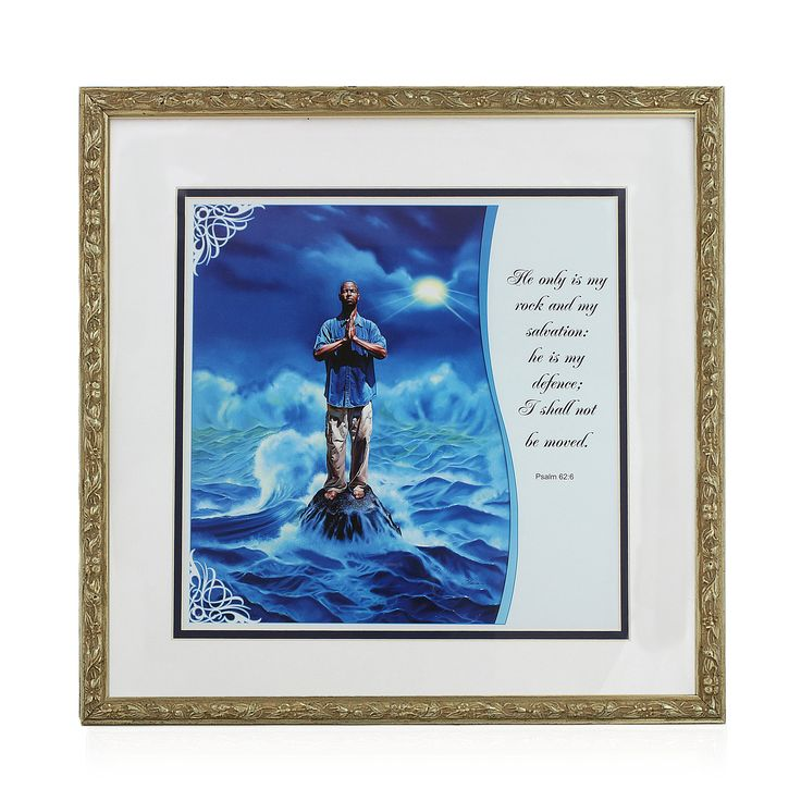 Framed Matted Religious Art Work Framed Matted Religious