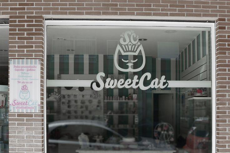 Rotulación tienda Sweet Cat