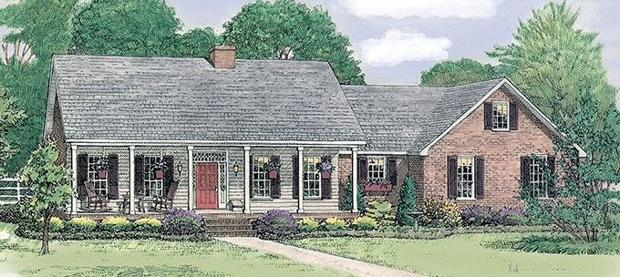 Home Plan HOMEPW17862 - 2034 Square Foot, 3 Bedroom 2 Bathroom Country Home with 2 Garage Bays | Homeplans.com