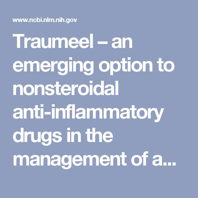 Traumeel – an emerging option to nonsteroidal anti-inflammatory drugs in the management of acute musculoskeletal injuries