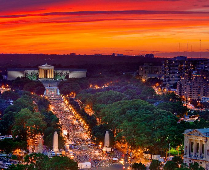 Top Picks For The Best Places To Watch The Sunset In Philadelphia (Photo by G. Widman for GPTMC)