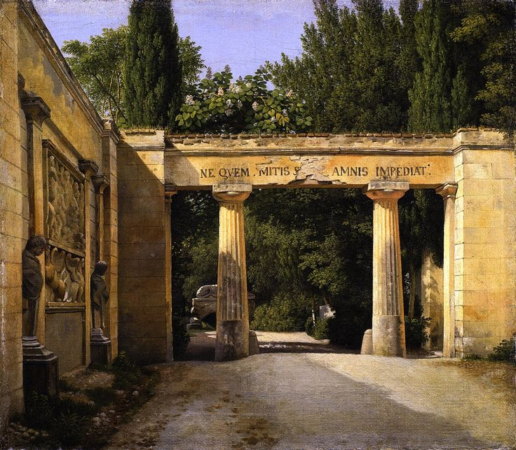 Christoffer Wilhelm Eckersberg (1813-1816) View of the Garden of the Villa Borghese in Rome