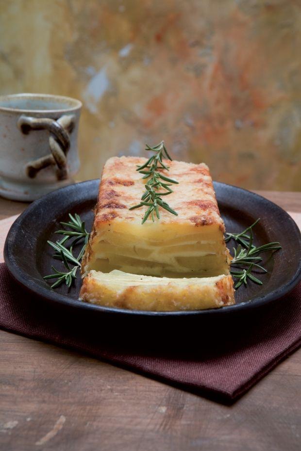 Flan au fromage et pommes de terre (un peu comme une tortilla de patates, peut-être ?)