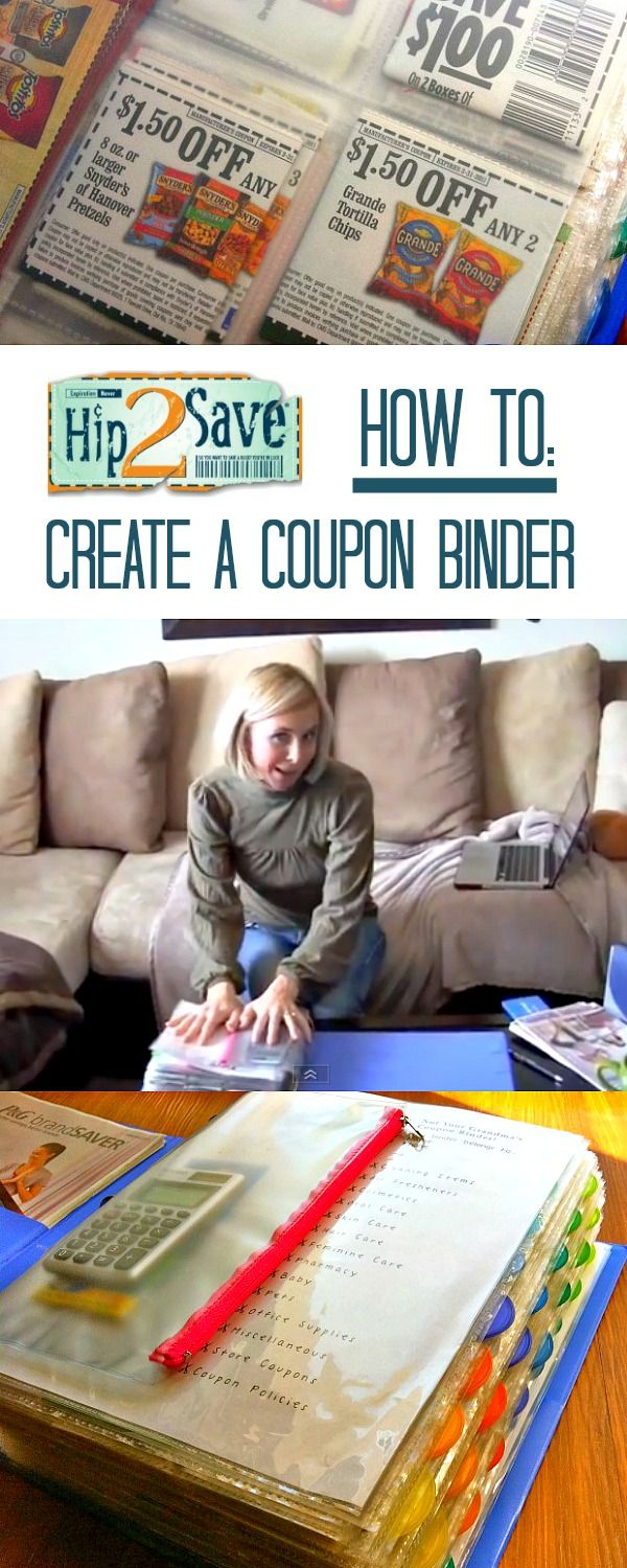 How to create a coupon binder --- Keep those coupons organized! via Hip2Save: It's Not Your Grandma's Coupon Site!