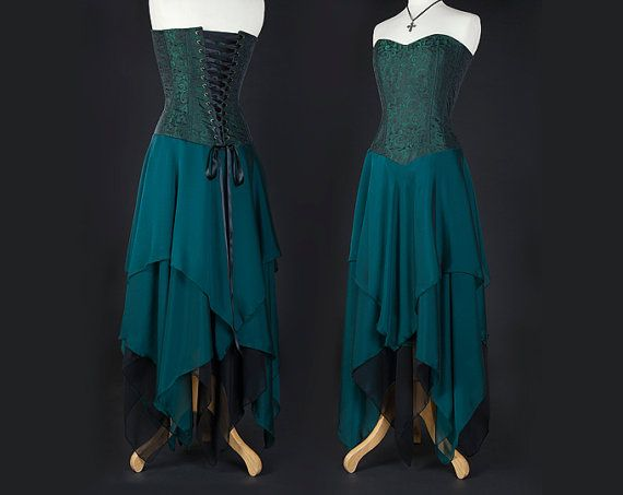 This beautiful gown has a sturdy corset bodice that is fully boned with sprung steel rods. It is not designed to be worn as a full reduction