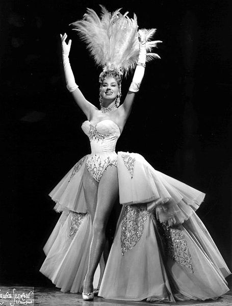 A 1950s burlesque performer.