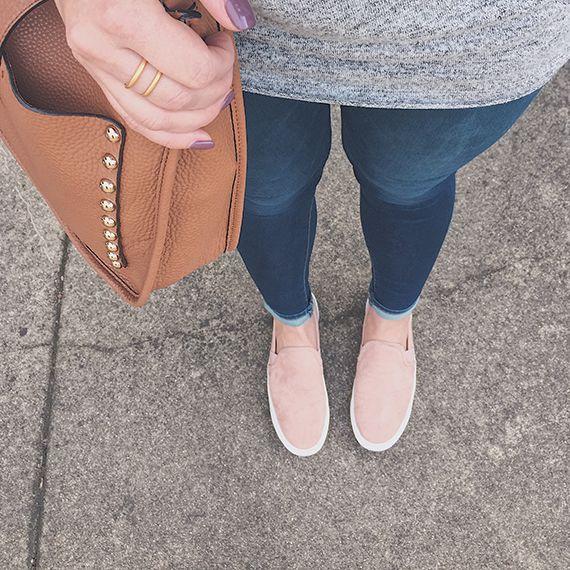 blush slip on sneakers