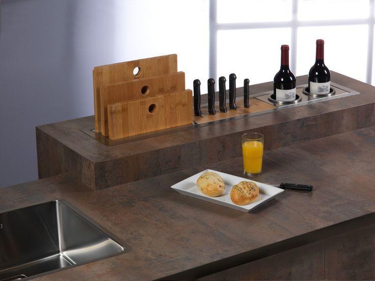 werkblad accessoire-eiland keuken Reginox Manhattan - keuken ideeën #werkblad #keukeneiland #accessoires
