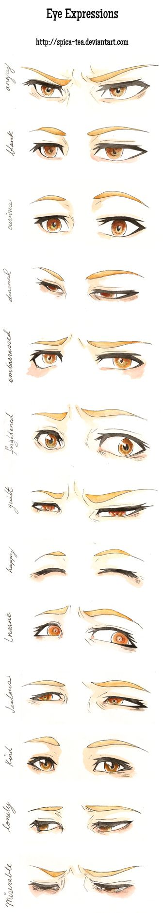 Eye expressions practice by CalSparrow on DeviantArt