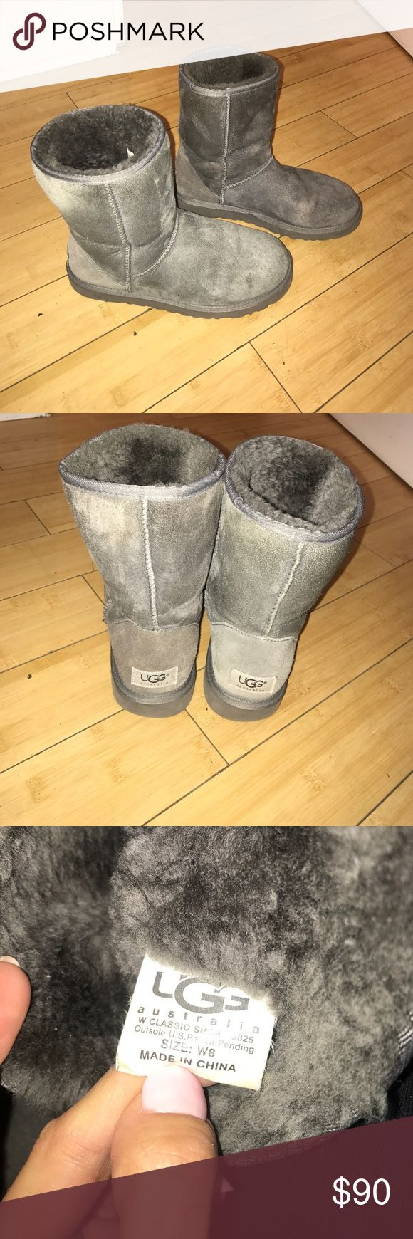 Classic Short Uggs Size 8 Get cozy in these authentic Classic Short Ugg boots! Just brushed them and the bottom treads are in perfect condition 👌 UGG Shoes Winter & Rain Boots