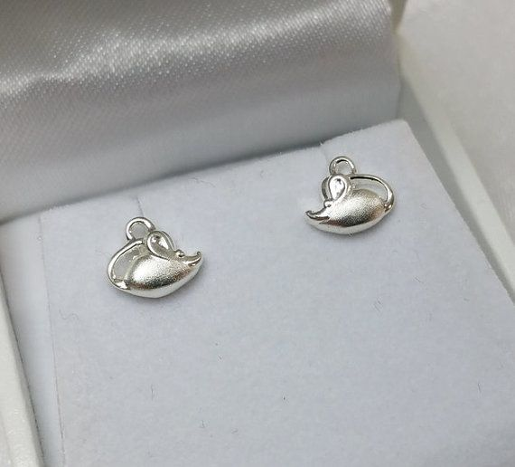 Kinder Mäuse Ohrstecker Ohrringe 925 Silber Mäuschen von myduttel