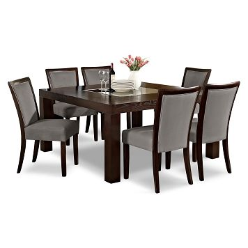 american signature furniture tango gray dining room 7 pc