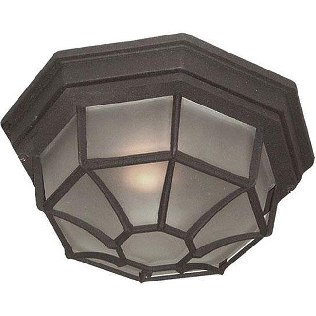 Woodbridge Lighting Basic 1-light Powder Coat Outdoor Flush Mount