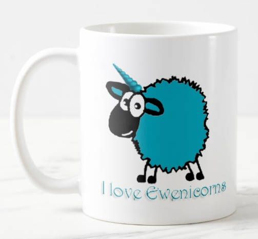 This Welsh Ewenicorn mug is a great gift for sheep or unicorn lovers everywhere, or if you simply have a sense of humour or enjoy a different view of life.  This unusual Ewenicorn mug can be personalised with your name if required. Just let us know.  These mugs can be made in almost any colour you wish, please specify the colour you want your sheep to be - with text colour to match. Please specify colour at time or ordering.  They hold 11 ozs and are dishwasher and microwave safe and are…