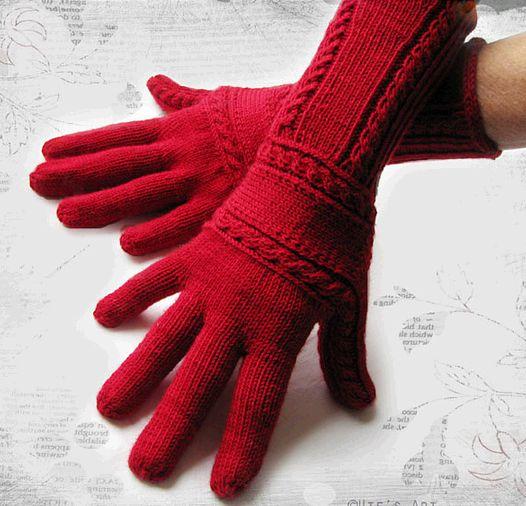 Перчатки женские вязаные спицами,мастер-класс