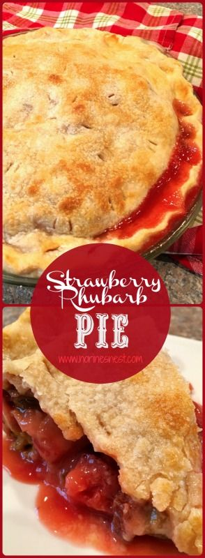 One of my all time favorite country desserts! Fresh Strawberry Rhubarb Pie! Ya'll come get a slice...it's the World's BEST Rhubarb Pie! It's our favorite!
