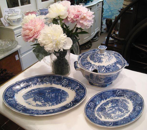 "Arabia tableware, ""Sininen maisema"""