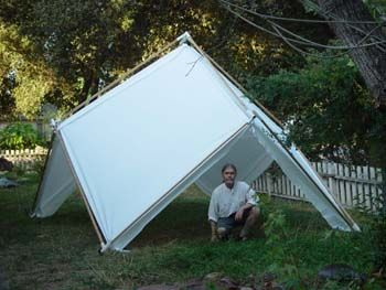 Foldable Tensegrity Tent. Tensegrity researchers debate whether this is a tension structure, or a classic tensegrity structure.