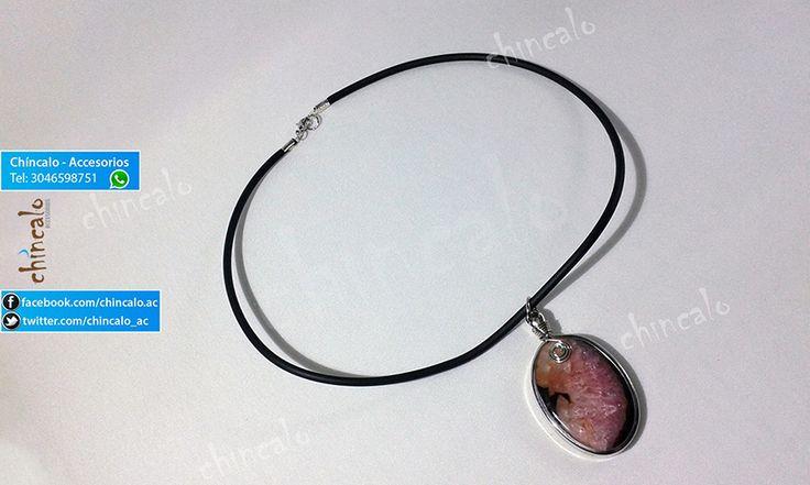 Collar Referencia: coll13 Valor: $37.000 Para: Mujer Material: Piedra Agata y Níquel. Cuidados: Evitar el contacto con perfumes.