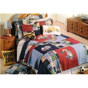 Nice Wrap This Adorable Bedding Up And Surprise A Young Boy. Boy Zone  Construction Red And Idea