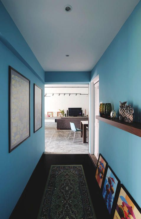 this modern retro hdb flat with bold colours is absolutely