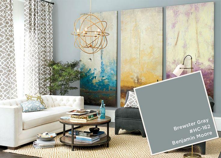 Benjamin Moore's Brewster Gray from the Ballard Designs catalog