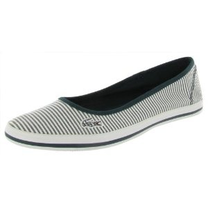 Lacoste Marthe 5 Slip On Seersucker Flats Womens Shoes (Apparel)