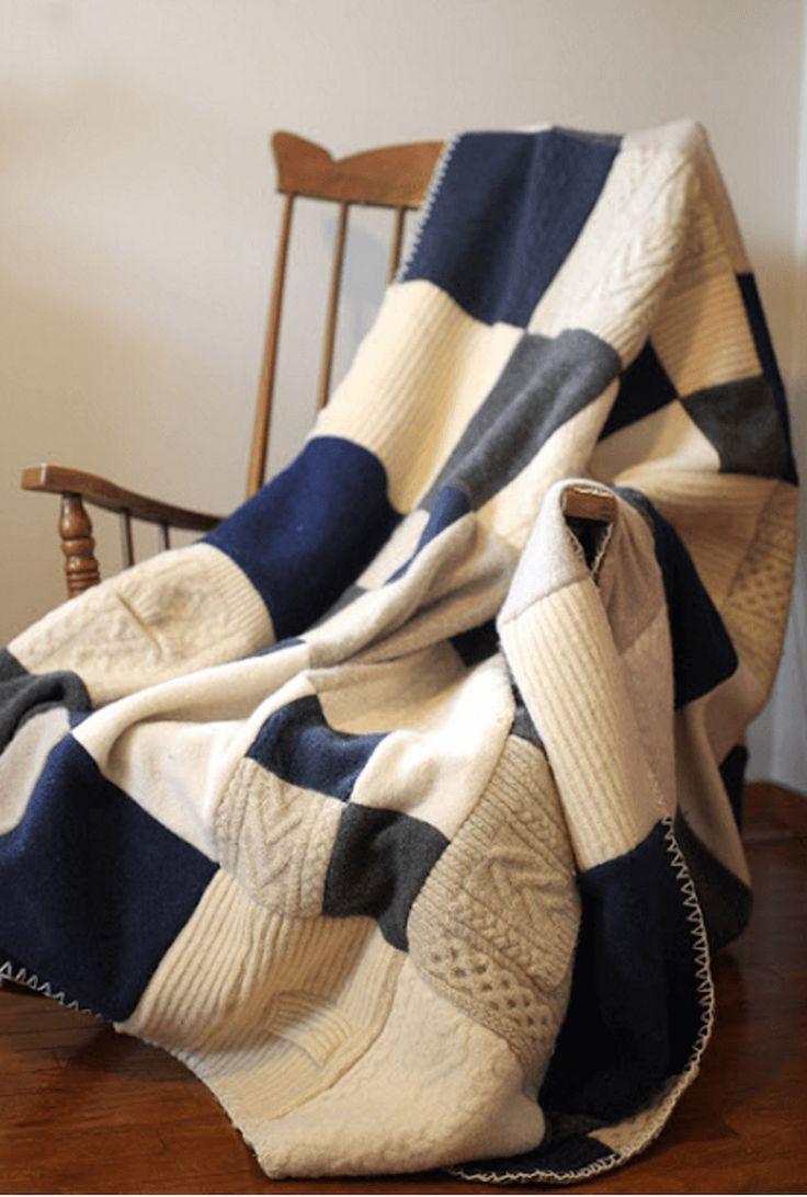 Idee smart per riciclare un vecchio maglione plaid