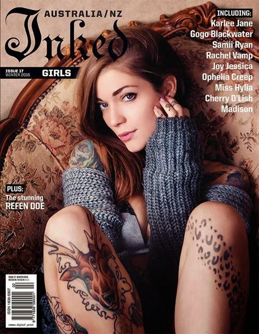Inked Girls is the magazine of pop culture and music for women who enjoy tattoo art, as well as the men that admire them.   Inked Girls magazine is the convergence of culture, style and art.  It's the voice of 'rebellious luxury' to a legion of hip, edgy and creative individualists.   Inked Girls is packed with stunning photography, cutting edge content and the latest in fashion, music, art and pop culture.