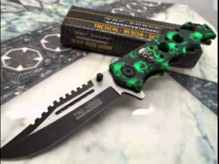 a cool green handled knife