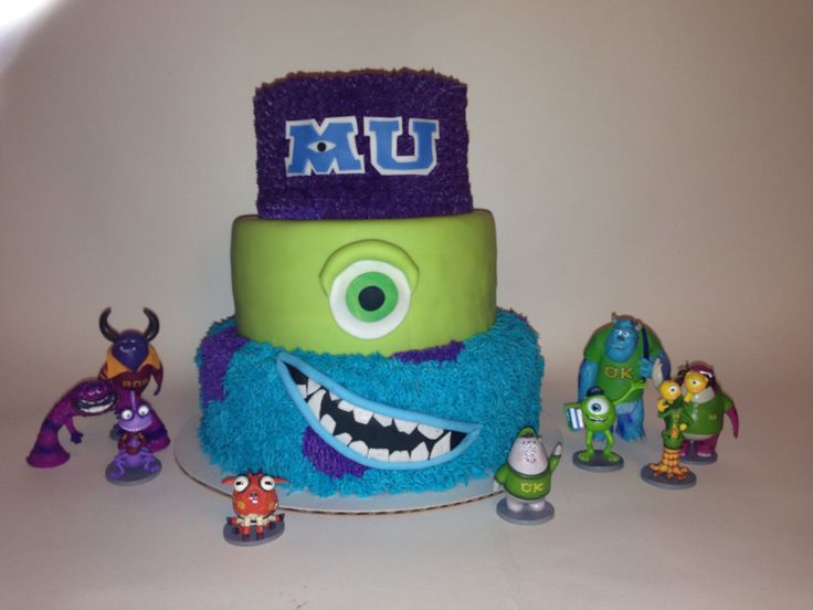 My version of Monsters University cake that was requested :) soooo fun. I love Pixar! cake, love, crossbones by holland