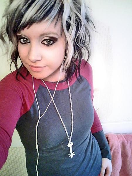 Pics of black hair with white streaks the best black hair 2017 gothic black and white hair google search me pmusecretfo Images