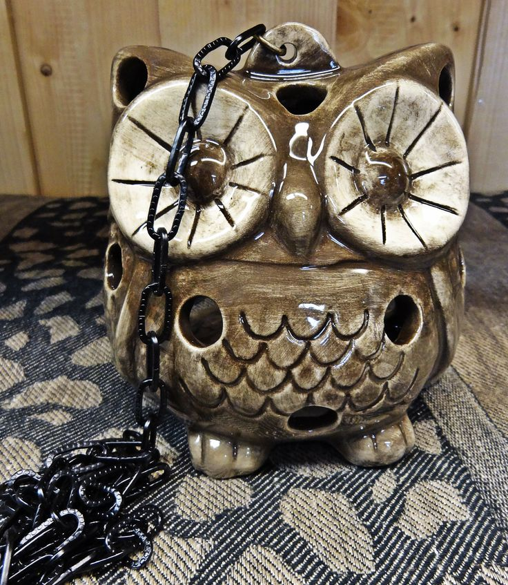 Sympathetic Ceramic Owl against mosquito is fun and original souvenir for the cottager or the gardener. Place inside the owl mosquito coil or candle, and hung the owl by a chain.