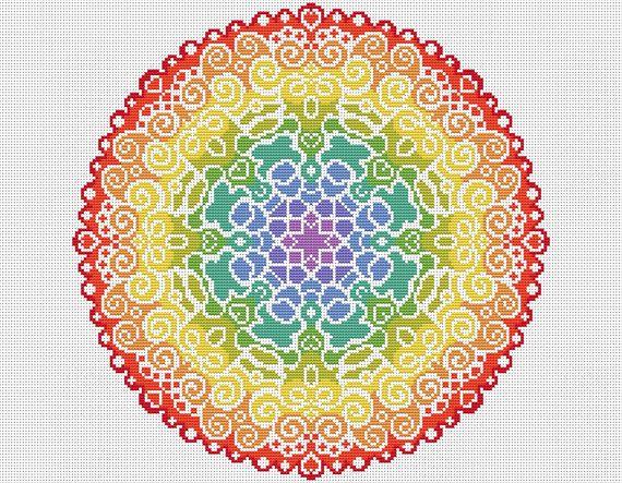 Welkom!  Beschikbaar hier is deze volledige cross stitch kit met alles wat die u wilt steek dit prachtig kleurrijke Spectrum Mandala-ontwerp. Uw kit komt met levendige DMC draden en volledige Kruis steken alleen gebruikt. Deze kit is van een eenvoudig eigen niveau voor een ontspannende project.  Uw kit zal bevatten;  Een stuk van 16 witte Aida stof, tellen 2 x John James cross stitch naalden, Echte DMC draden gesorteerd op een organisator, De grafiek van de volledige cross stitch in kleur…
